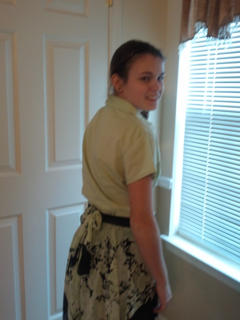 Upcycling a Skirt from a Dress