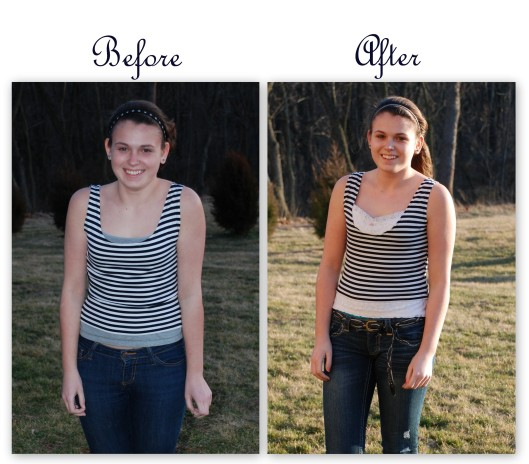 How to Make Shirts Cute Making a Cute Striped Shirt