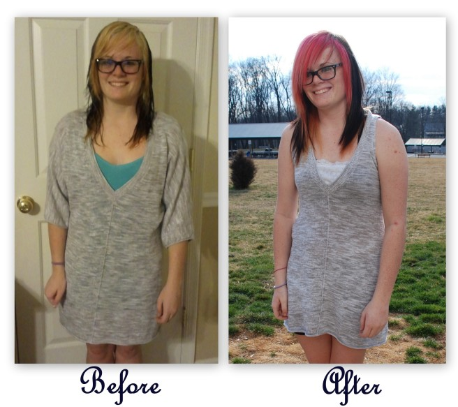 Remake a Knit Dress with Lace and Cutting