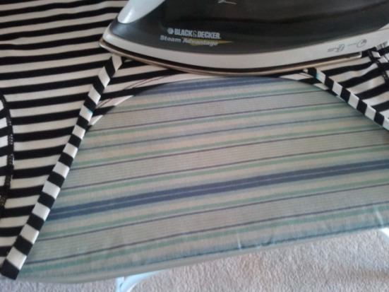 Making a Cute Striped Shirt Longer by Adding Lace
