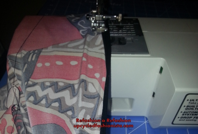 Refashioning a skirt from a dress #upcycle #refashion #sewing http://www.upcycledfashionista.com