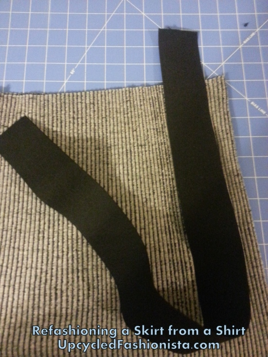 Refashioning a skirt from a shirt #upcycled #refashion #sewing