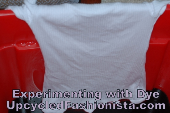 Refashioning a Dip Dye Shirt and Shorts Outfit #upcycle #refashion #sewing http://www.upcycledfashionista.com