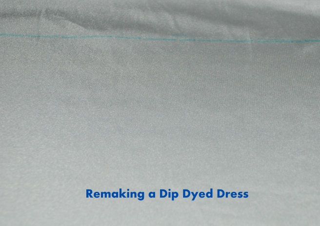 Remaking a dip dyed dress #upcyle #refashion #sewing http://www.upcycledfashionista.com