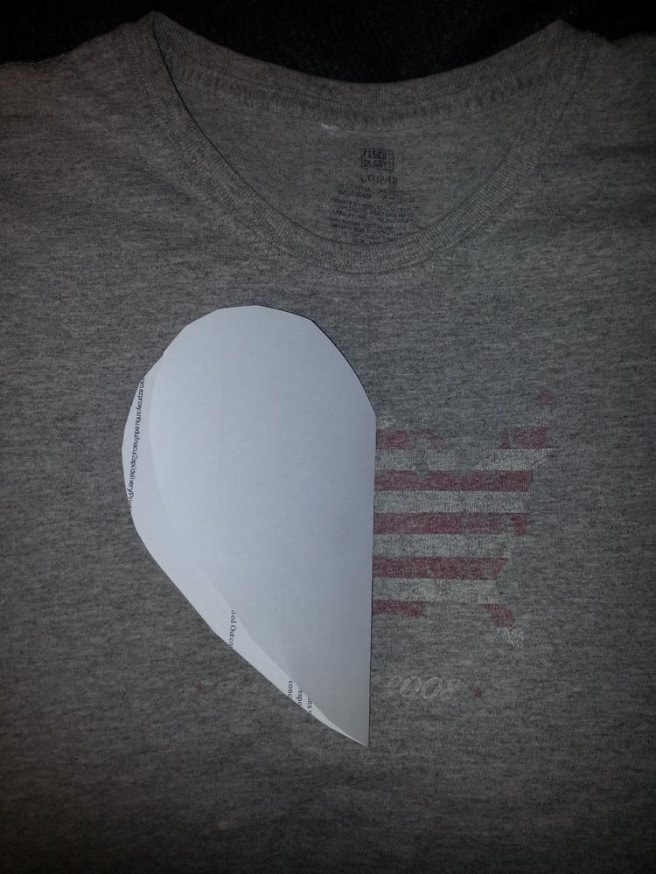 Refashion a Faded T-Shirt Into a Heart Cut-Out for Valentine's Day