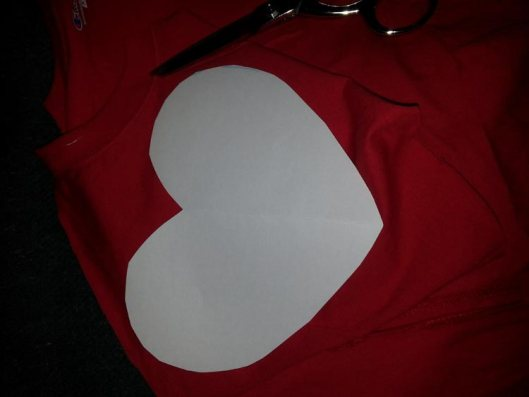 Refashion a Faded T-Shirt Into a Heart Cut-Out for Valentine's Day - Refashion / upcycle those t-shirts with a a few snips and lace for the day of love. Step-by-step DIY sewing tutorial for upcycling clothes into some other type of clothing or accessory. Remake, redo, reuse, and recycle to help save money and save the planet. Explore the web site for more refashioning tutorials, dozens of cute refashionista and fashion ideas with good, clear photos and instructions. http://letgoofbeingperfect.com