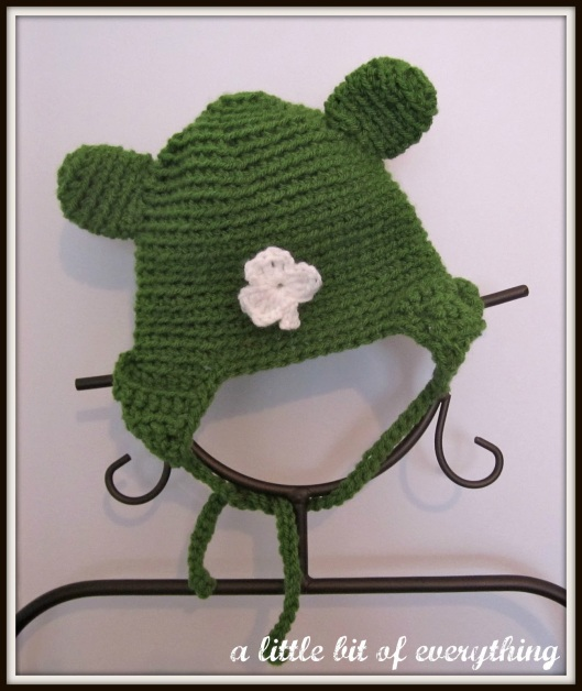 Crocheted Shamrock Hat