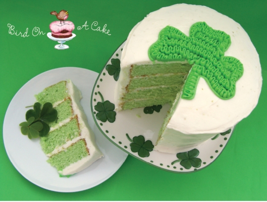 Key Lime Shamrock Cake