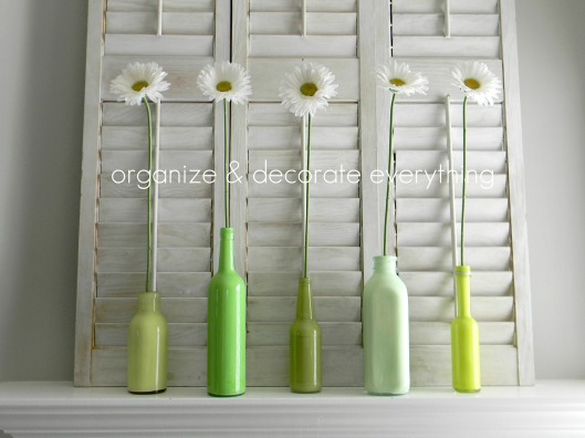 Decorate some bottles green