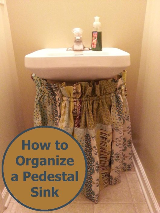 Organizing your house - creating storage underneath your pedestal sink