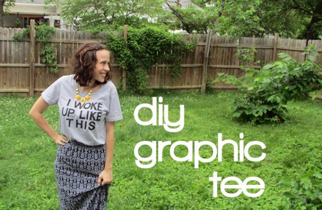 diy graphic tee shirt