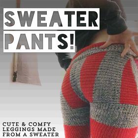 diy sweater pants